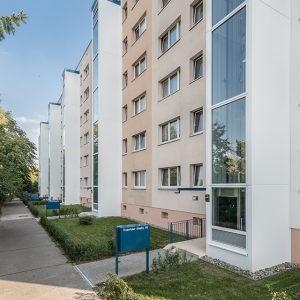 Sichtbeton, Betonfertigteile, Aufzugsanlagen, Trusetaler Strasse 47-55 Berlin