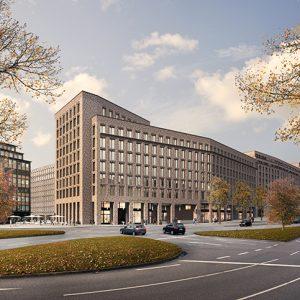 Klinkerfassade, Betonfertigteile, Johann Kontor am Klosterwall Hamburg