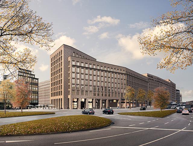 Architekturbeton, Betonfertigteile, Fertigteilfassade, Johann Kontor am Klosterwall Hamburg